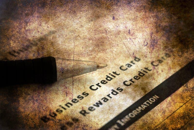 Aplicação do cartão de crédito do negócio imagens de stock