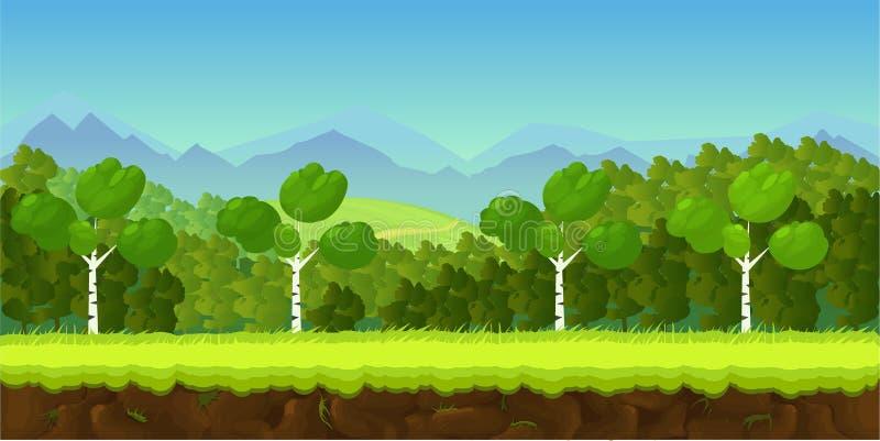 Aplicação do fundo do jogo 2d ilustração do vetor