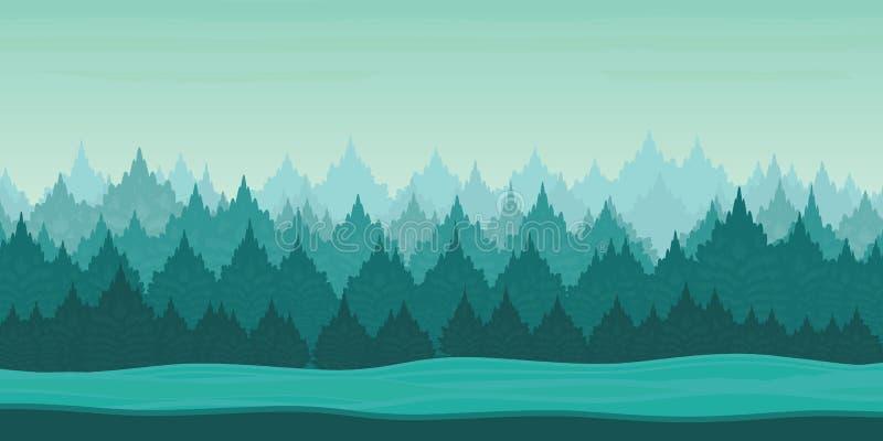 Aplicação do jogo da paisagem bonita do inverno 2d ilustração stock