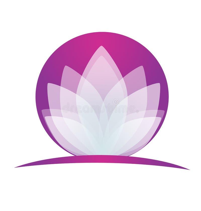 Aplicação do logotipo da flor de Lotus ilustração do vetor