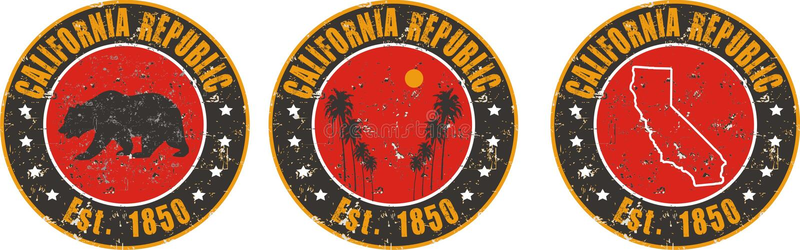 Aplicação do t-shirt do amor de Califórnia ilustração do vetor