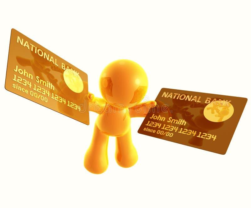 Aplicação em linha de cartão de crédito ilustração royalty free