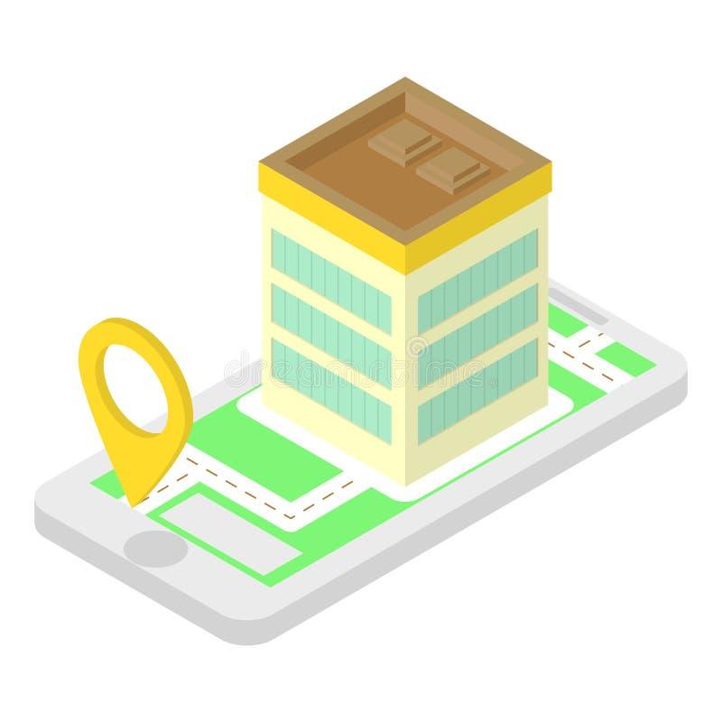 Aplicação isométrica do lugar ilustração royalty free