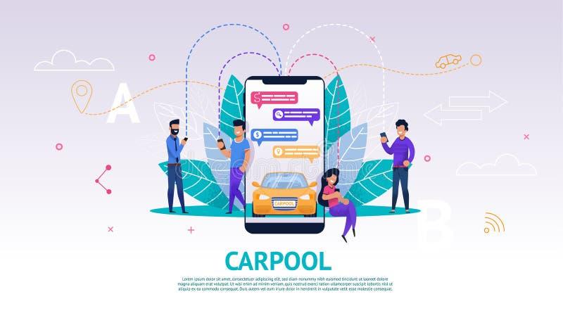 Aplicação móvel da ilustração na tela do telefone ilustração stock