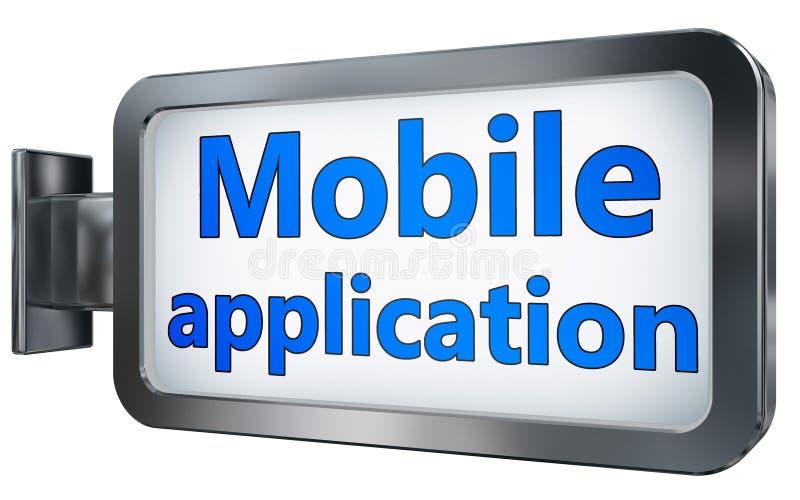 Aplicação móvel no quadro de avisos ilustração do vetor