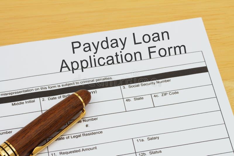 Aplicação para um empréstimo do dia de pagamento imagem de stock royalty free