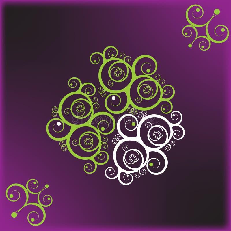 Aplicação violeta floral fotografia de stock royalty free