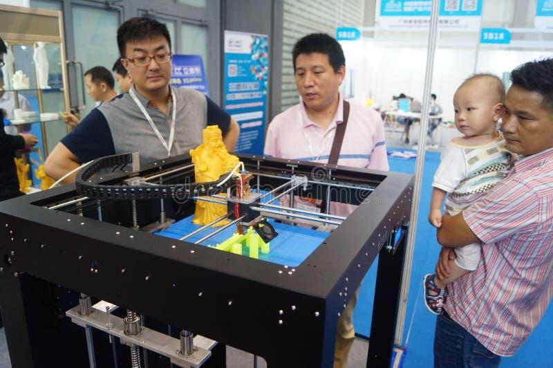 aplicações da impressão 3D e facilidades e exposição do equipamento fotos de stock