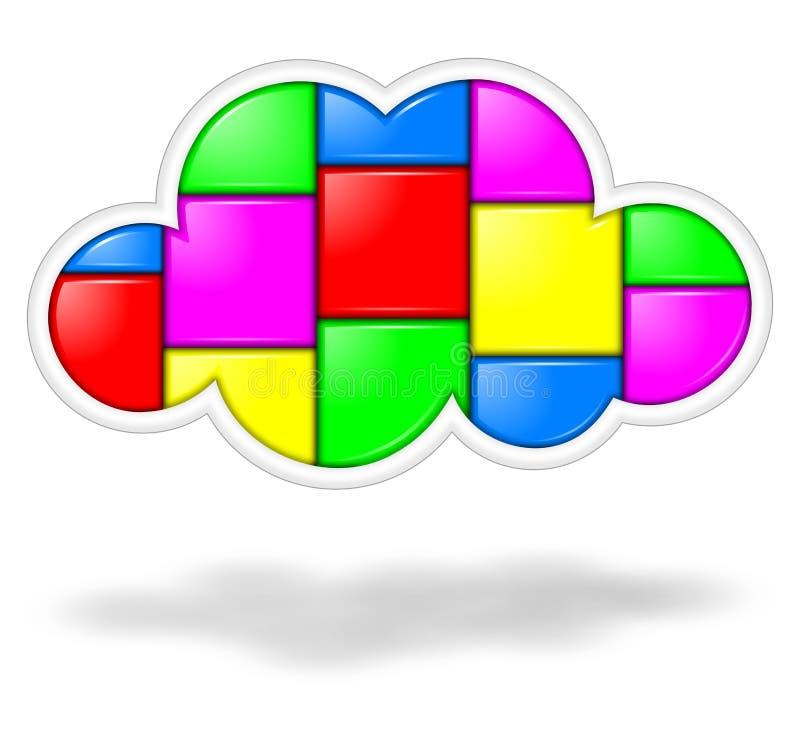 Aplicações da nuvem ilustração stock