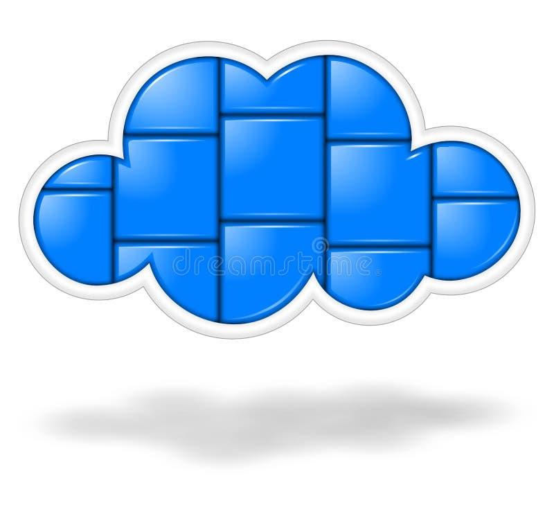 Aplicações da nuvem ilustração royalty free
