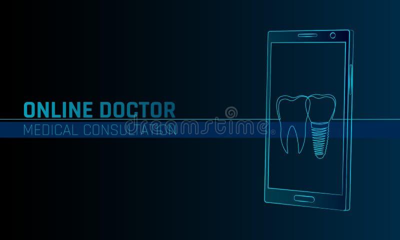 Aplicações médicas em linha do móbil do doutor app Bandeira do conceito do diagnóstico da medicina dos cuidados médicos de Digita ilustração royalty free