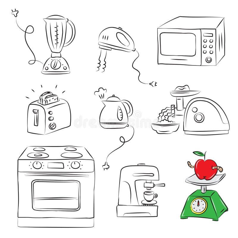 Aplicación de cocina stock de ilustración
