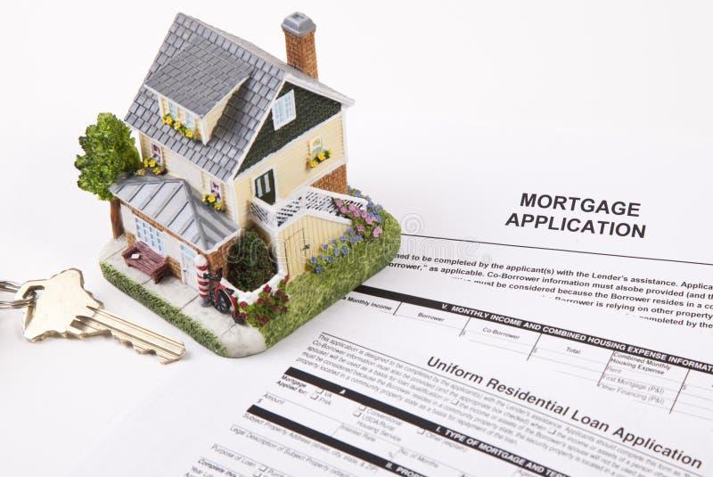 Aplicación de hipoteca imagen de archivo libre de regalías