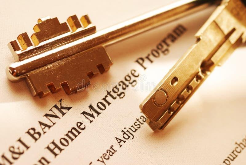 Aplicación de hipoteca fotos de archivo libres de regalías