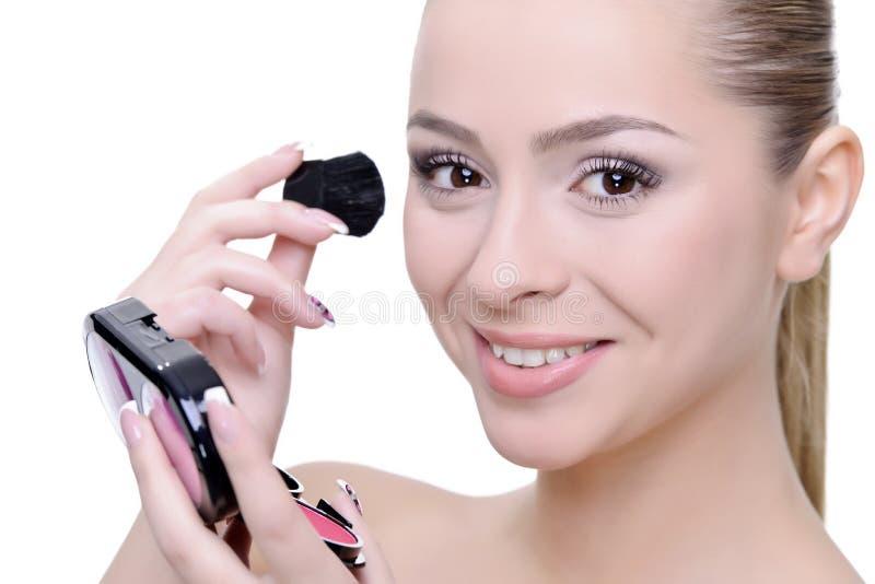 Aplicación de maquillaje imagen de archivo libre de regalías
