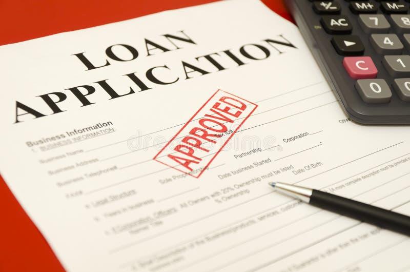 aplicación de préstamo aprobada foto de archivo