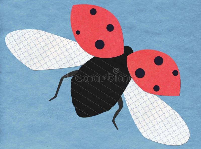 Aplicación del ladybug del vuelo ilustración del vector