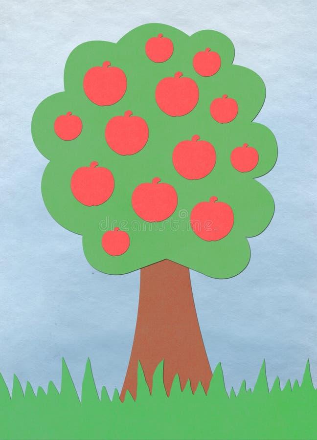 Aplicación del manzano ilustración del vector