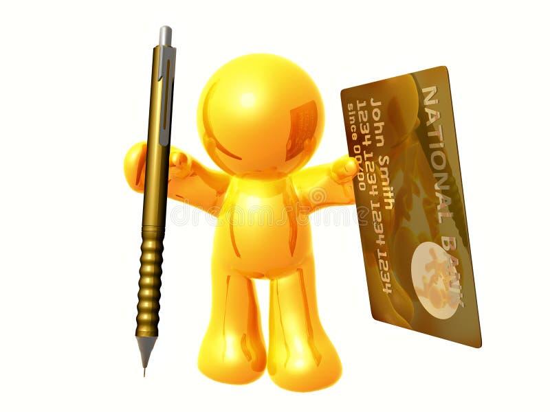 Aplicación en línea de la tarjeta de crédito stock de ilustración