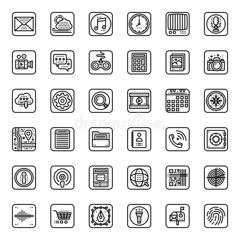Aplicación móvil stock de ilustración