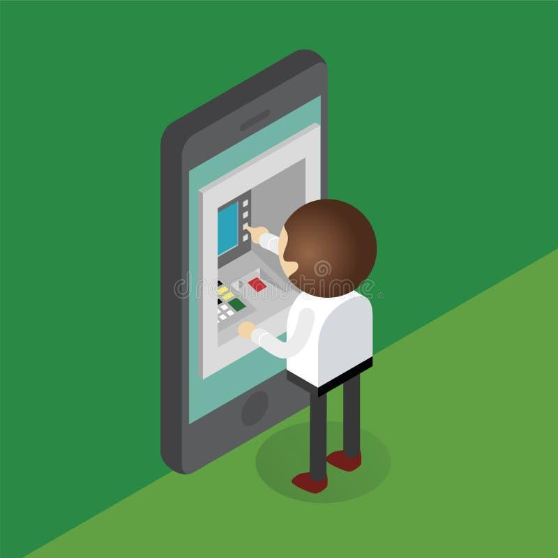 Aplicación móvil de las actividades bancarias stock de ilustración