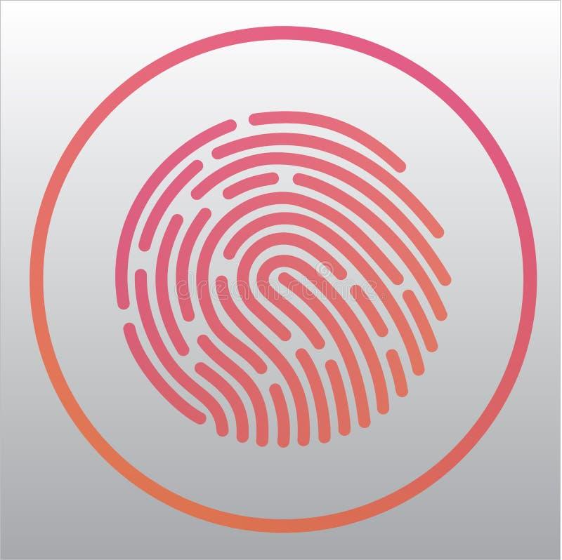 Aplicación móvil para la huella dactilar del reconocimiento libre illustration