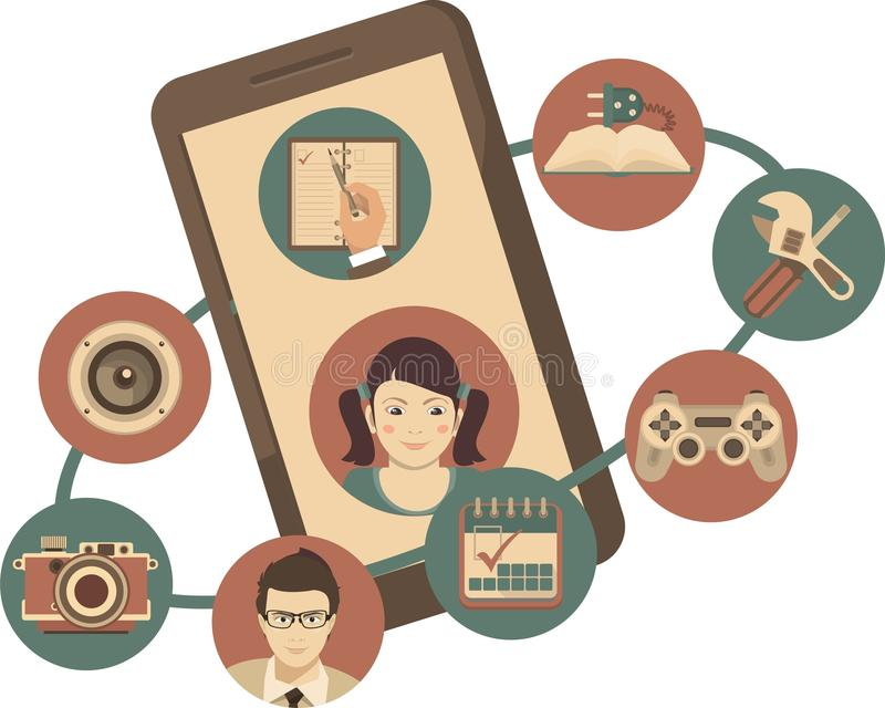 Aplicaciones móviles libre illustration