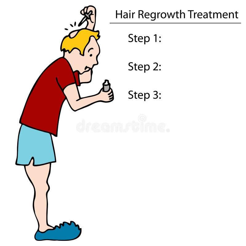 Aplicando o tónico do cabelo ilustração royalty free