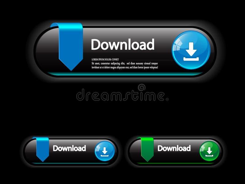 aplications按钮下载万维网 库存例证