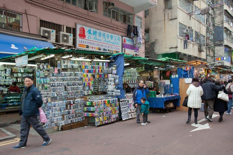 apliu Hong kong ulica obraz stock