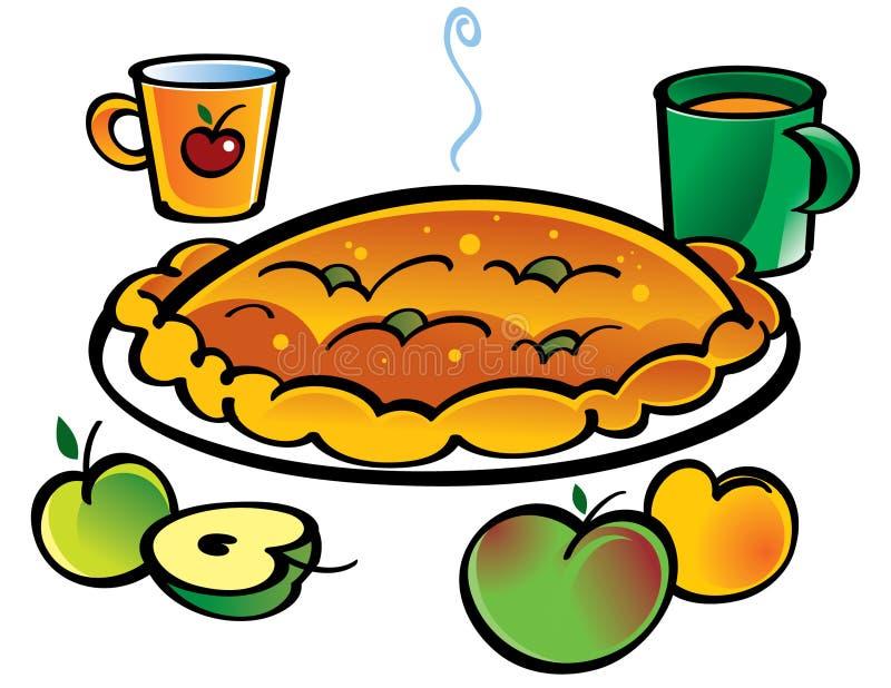Aplle Torte lizenzfreie abbildung