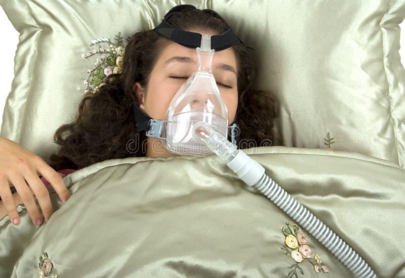 Apnea de sono imagem de stock