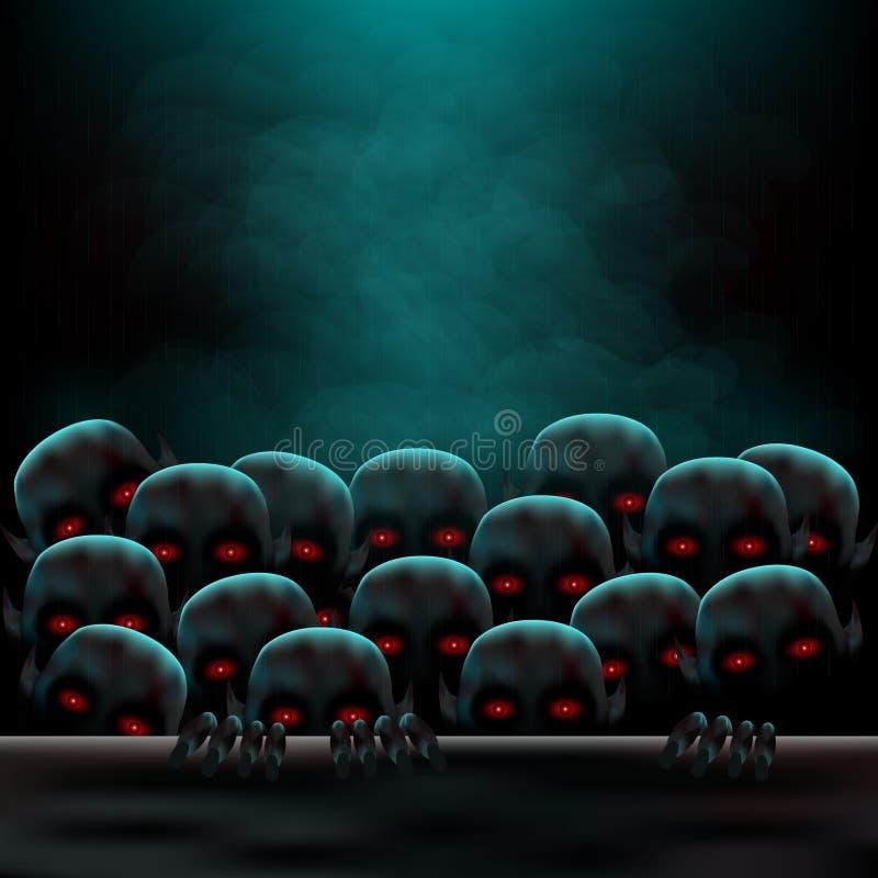 Apocalipse 2 do zombi ilustração stock