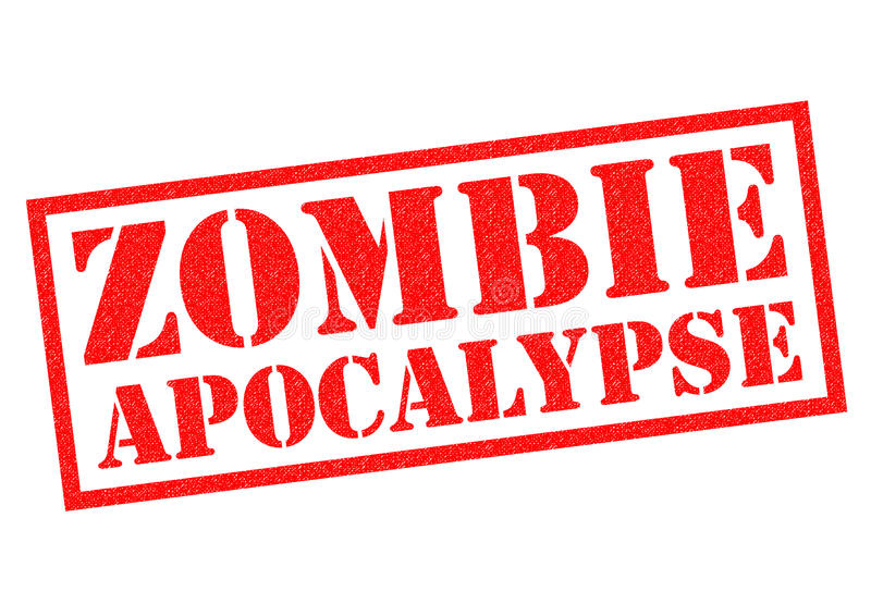 Apocalipse do zombi ilustração do vetor