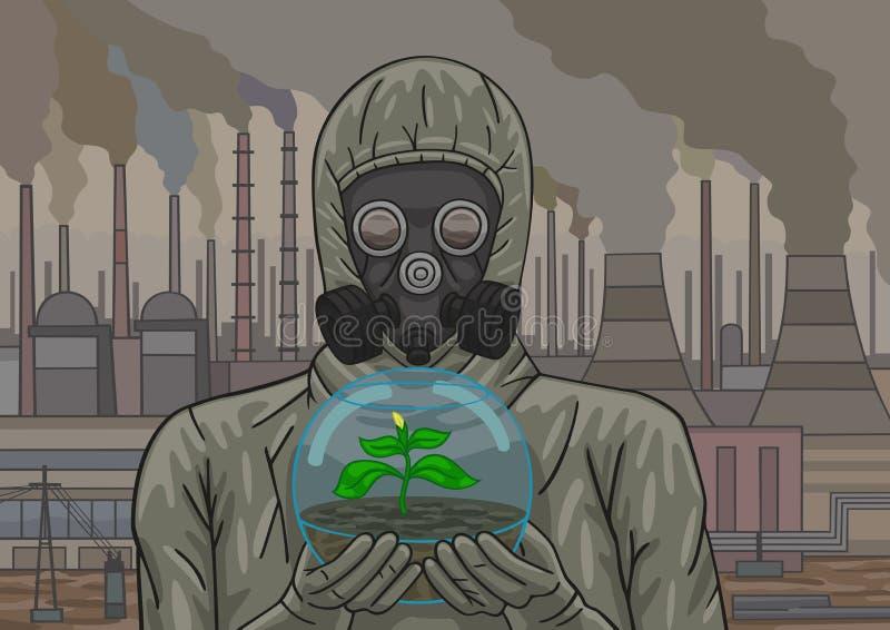 Apocalipse industrial ilustração stock
