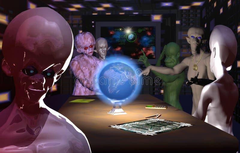 Apocalipse, o dia antes ilustração royalty free