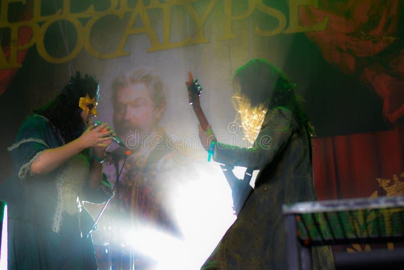 Apocalipsis de Fleshgod en Hellfest 2016 fotos de archivo