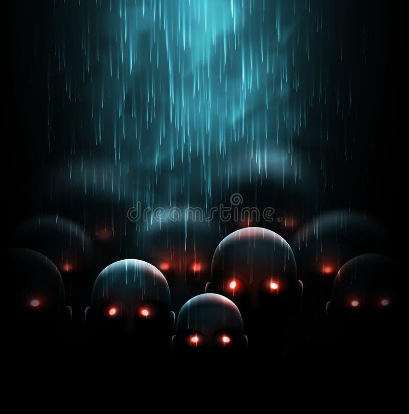 Apocalipsis del zombi ilustración del vector