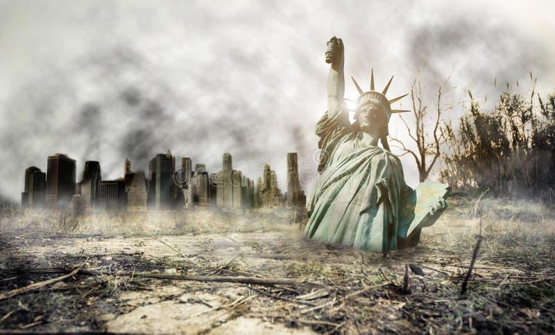 Apocalipsis en Nueva York foto de archivo libre de regalías