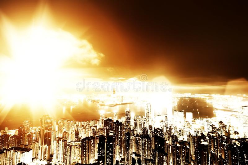 Apocalyps in de stad royalty-vrije stock afbeeldingen