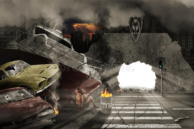 Apocalypse. Which may occur December 21, 2012 stock images
