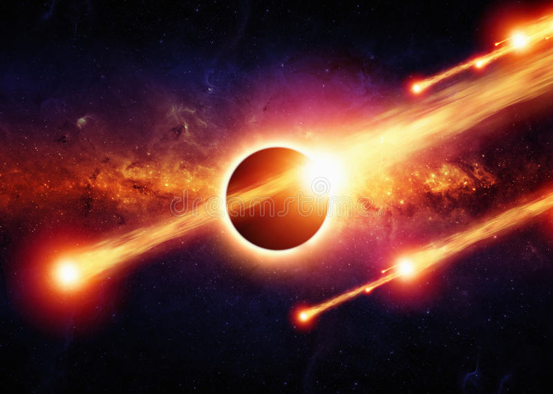 Apocalypse abstraite de l'espace image stock