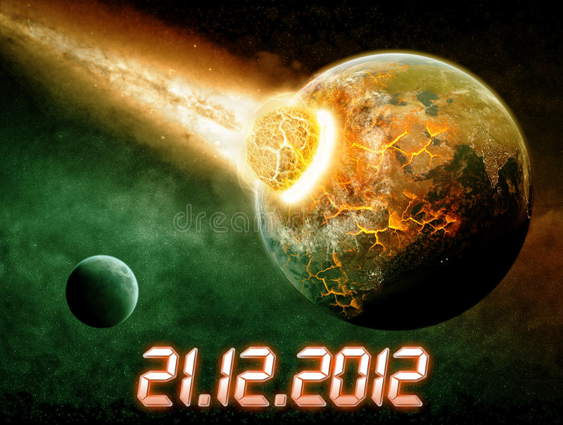 Apocalypse de la terre de planète illustration libre de droits