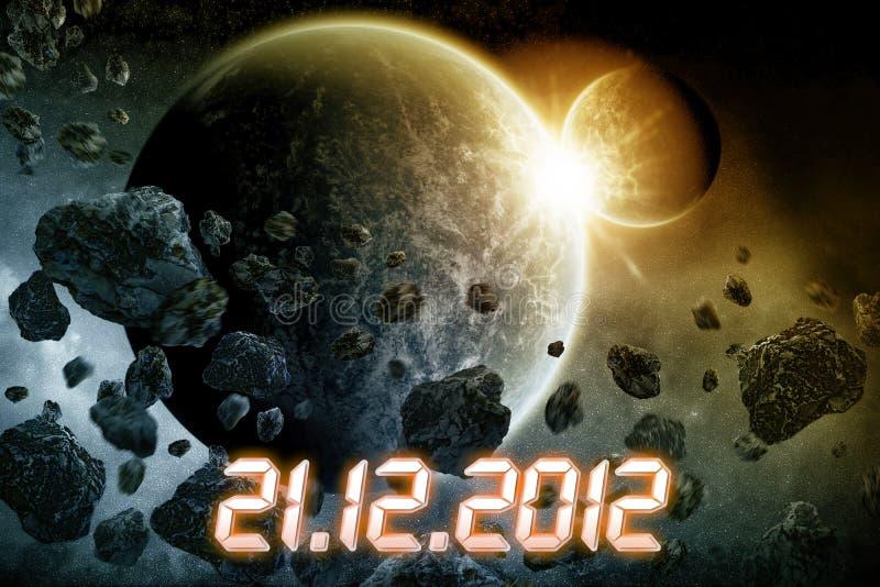 Apocalypse de la terre de planète illustration stock