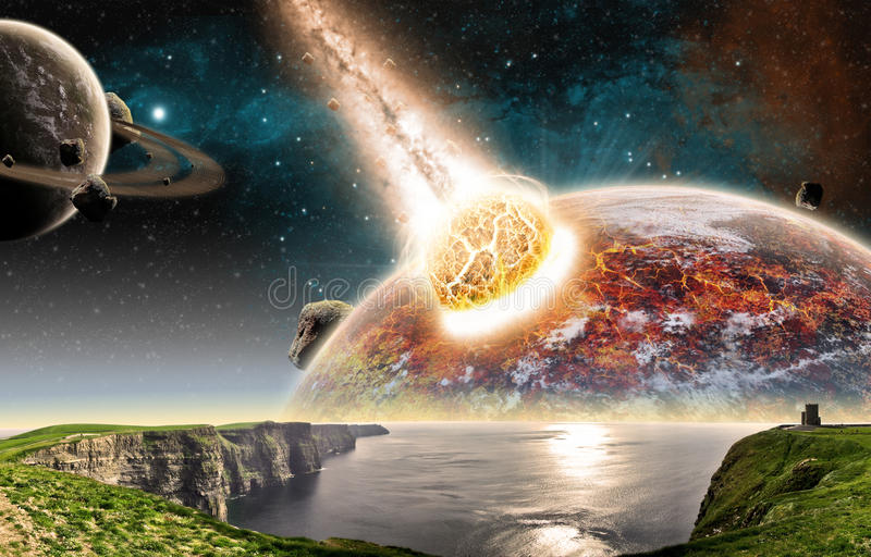 Apocalypse - earth end of time royalty free illustration