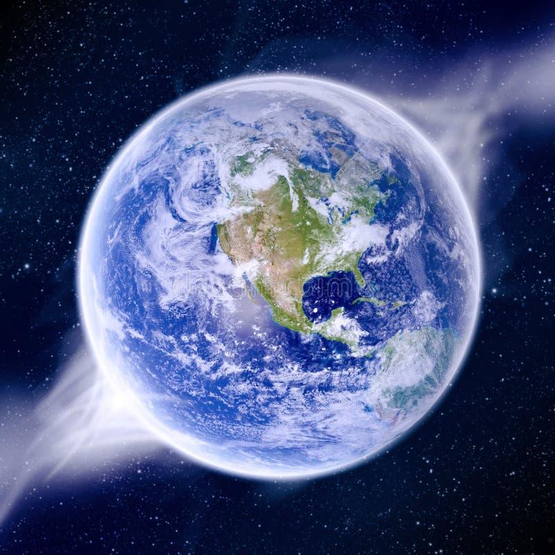 Apocalypse - extrémité de la terre du temps illustration stock