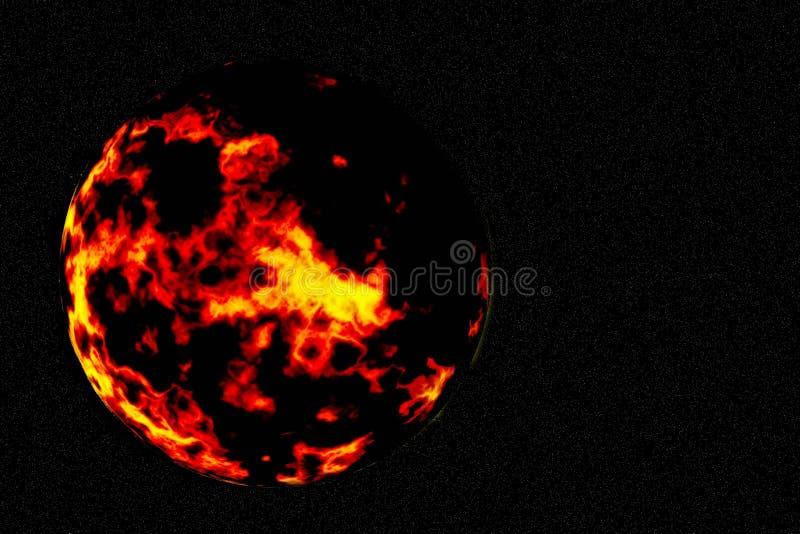 apocalypse palenia planeta royalty ilustracja
