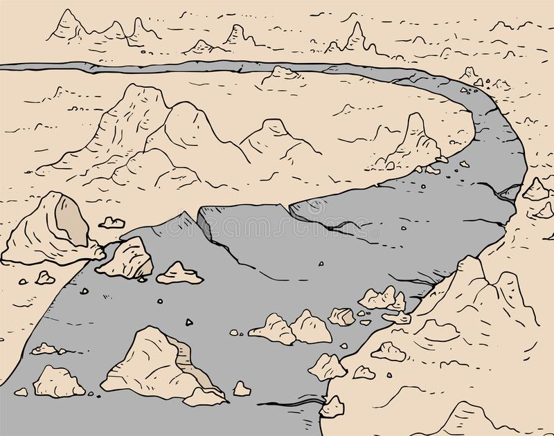 Apocalypse road illustration. Creative design of apocalypse road illustration royalty free illustration