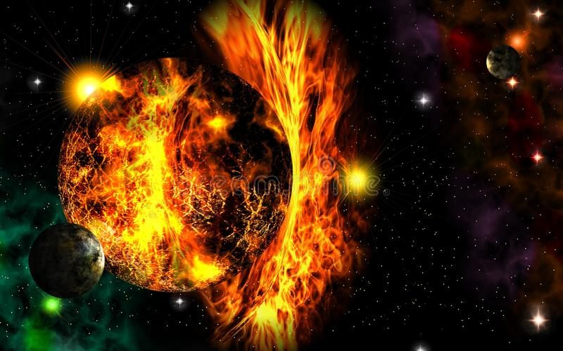 Apocalypse in space. vector illustration