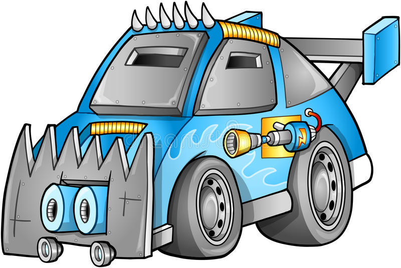 Download Apocalyptic Car Vehicle stock illustration. Image of spikes - 27677892